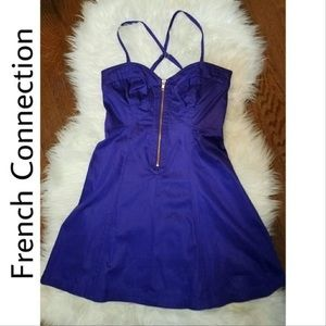 FRENCH CONNECTION Purple Fit & Flare Dress